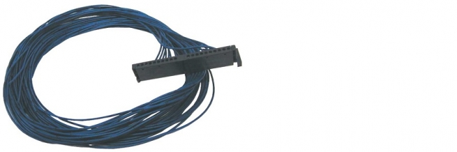 ASSEMBLED CABLE WITH D=0,75mm BLUE WIRES AND 20 POLES SIEMENS CONNECTORS
